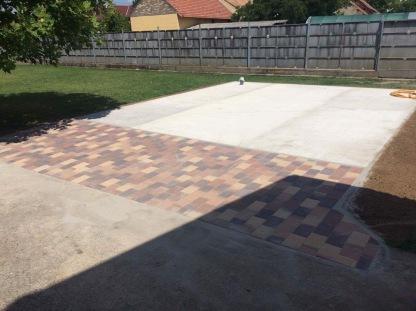 betonozás és térkövezés